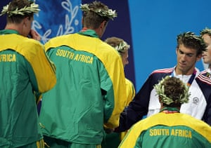 phelps gallery: Mens 4x100m Free Relay Medal Ceremony