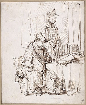Old Masters: An Actor in His Dressing Room by Rembrandt