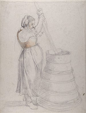 Old Masters: A Peasant Girl Churning Butter by Rubens