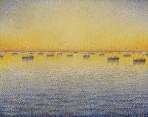 Van Gogh to Kandinsky: Setting Sun, Sardine Fishing by Paul Signac