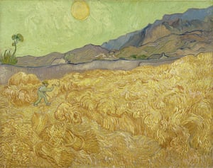 Van Gogh to Kandinsky: Wheatfield with Reaper by Vincent van Gogh