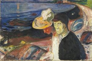 Van Gogh to Kandinsky: Man and Woman on the Beach by Edvard Munch