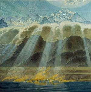 Van Gogh to Kandinsky: Sun over Southern Mountains by Jens Ferdinand Willumsen