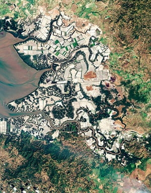 Satellite eye on earth: aquaculture industry in Gulf of Fonseca