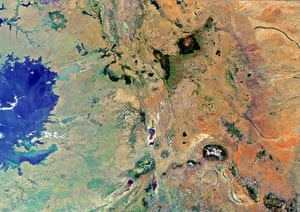 Satellite eye on earth: The border region of southern Kenya and northern Tanzania