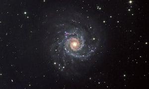 Spiral galaxy in Pisces constellation