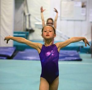 Critics meet Olympians: Gymnasts train at Heathrow Gymnastics Club