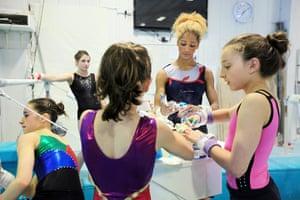 Critics meet Olympians: Olympic gymnasts train at Heathrow Gymnastics Club