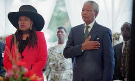 Nelson Mandela and Daughter Zenani at Inauguration Ceremony