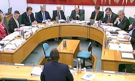 Bob Diamond faces the Treasury select committee
