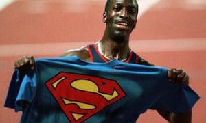 Michael Johnson with superman t-shirt