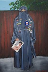 Sarah Maple's Blue, Badges, Burka