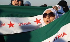 Anti-Assad protesters in Amman