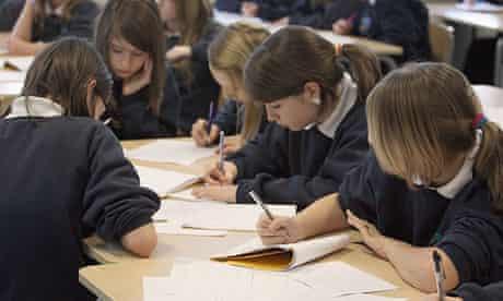 Schoolchildren at the Bridge Learning Campus in Bristol