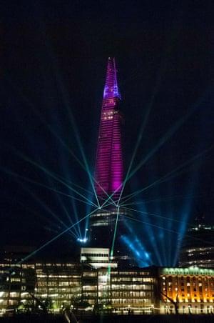 Shard laser show