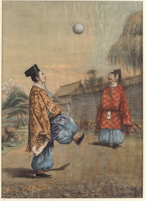 National football museum: A 19th-century watercolour on silk of Kemari