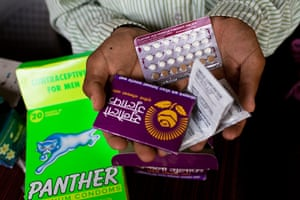 Nepalese children: Contraceptives in a local pharmacy