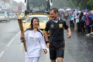 Rain: Olympic Torch Relay