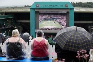 Rain: Wimbledon 2012: Day Eleven
