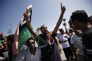 Libya Elections: Libyans celebrate in Martyrs' Square in Tripoli