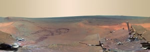 NASA Mars: This full-circle scene combines 817 images taken by the panoramic camera