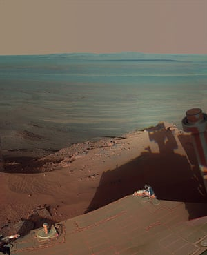 NASA Mars: Late Afternoon Shadows at Endeavour Crater on Mars