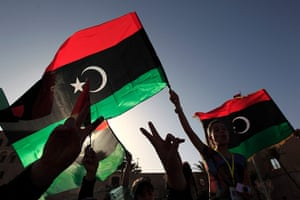 Libya election: Libyans celebrate on the streets of Tripoli's Martyrs Square