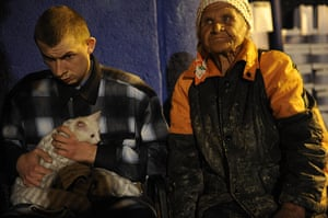 Russia Floods: Victims of the flood rest in a temporary shelter in Krymsk