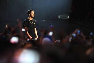 Wireless festival: Canadian rapper Drake headlined the festival