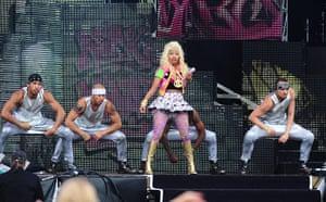 Wireless festival: Nicki Minaj on stage before Drake headlined on Saturday