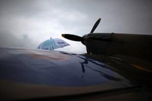 Summer rain: A visitor at The International Air Tattoo At Fairford
