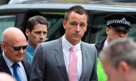 John Terry arrives at court