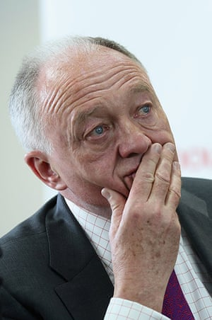 Tearful men: Ken Livingstone