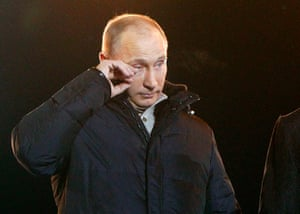 Tearful men: Vladimir Putin
