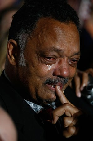 Tearful men:  Jesse Jackson