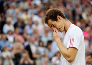 Tearful men: Andy Murray