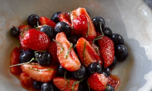 Blueberry and strawberry salad