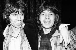 Rolling Stones: Mick Jagger with Keith Richard