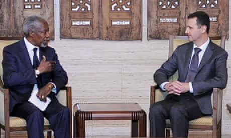 Kofi Annan meets with Bashar al-Assad