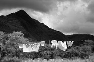 Wales book photography: Cnicht mountain from Croesor village, Snowdonia