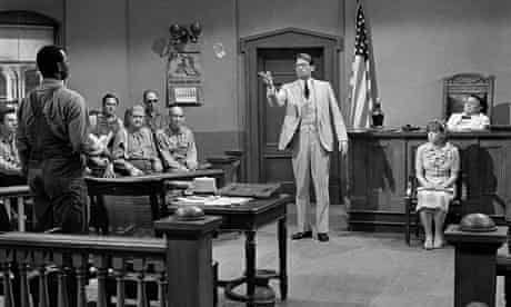 Gregory Peck, centre, in To Kill a Mockingbird, directed by Robert Mulligan