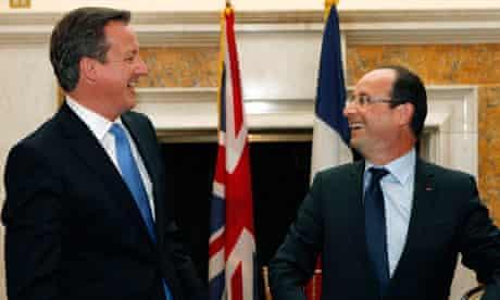 David Cameron and François Hollande, Washington, 18/5/12