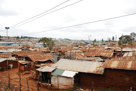 The roof tops of Kibera