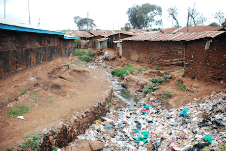 Waste gully in Kibera