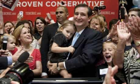 Ted Cruz with supporters after winning the Texas Republican Senate primary