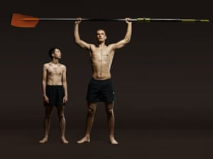 Phelan Hill, cox, and Mohamed Sbihi, rower. Photograph: Kate Peters/Institute for the Guardian