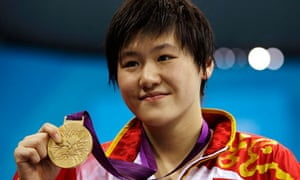 China's Ye Shiwen with gold medal