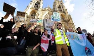 York Minster protest