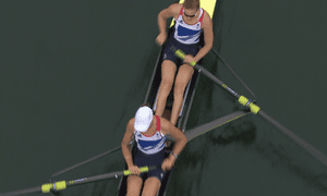 Helen Glover and Heather Stanning win Britain's first gold of the 2012 Olympics on 1 August 2012.