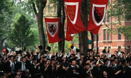 Graduation ceremony at Harvard